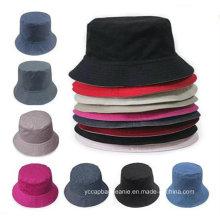Colorido puro puro algodão caça balde verão chapéus