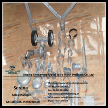 China manufacture hot galvanized tensile band clamps fence fittings
