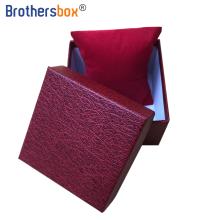 Custom logo packaging lid and base boxes single paper cardboard watch box foam insert