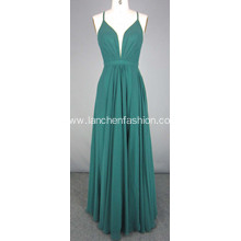 Green Floor-length Ball Gown Red Carpet Dress
