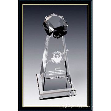 Crystal Stellar Tower Award 8 Inch Tall (NU-CW790)