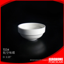 wholesale restaurant airline use white porcelain small plate