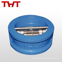 double-disc wafer small plastic check valve duplex