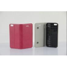 Funda de cuero genuino de la PU más nueva 2013 de la cartera para el iPhone 5