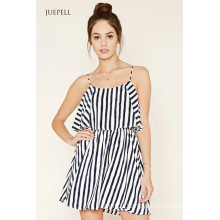 2016 OEM Fashion Striped Flounce Dress