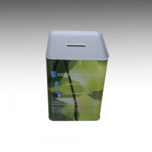 Square Tin Coin Bank-JY-WD-2015140401