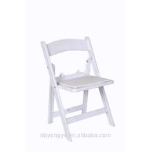 Acolchados de plástico blanco sillas plegables