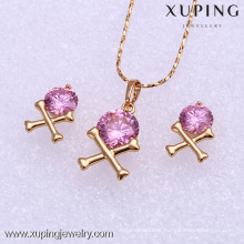 61844 Xuping crystal fashional jewelry set female jewelry