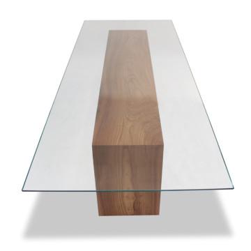 Klar geschnittenes rechteckiges gehärtetes Esstischglas