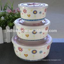 porcelain fresh seal bowl microwave oven bowl set,ceramic fresh bowl set