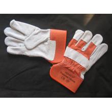 Orange Kuh Split Leder Voll Palm Handschuh-3056.10