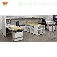 Wholesale Office White Cubicles Partitions Office Table Design (HY-258)