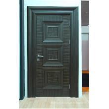 Portão de madeira moldado com folheado de madeira de preço acessível