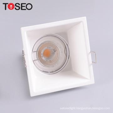 Indoor ceiling adjustable led square anti-glare aluminum downlight