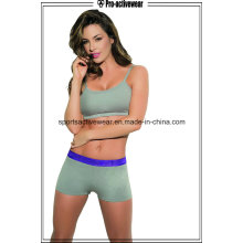Atacado Sexy Tight Mulheres Polyester Gym Workout Shorts