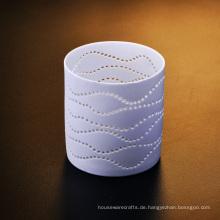 Durchbohrte Keramik Teelicht Kerzenhalter
