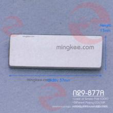 Rechteckiges Metalletikett mit individuellem Logo für Damen Tasche / Handtasche (N29-877A)