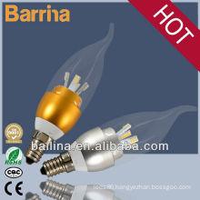 2013 hot sale e14 led flicker flame 3W/4W candle light bulbs
