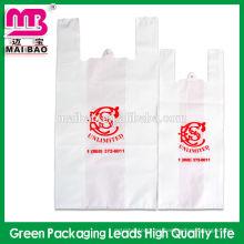 El bolso plástico barato más barato de la camiseta de la impresión PE del multicolor para hacer compras