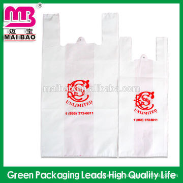 Cheapest multicolor printing PE Cheap plastic t-shirt bag for shopping