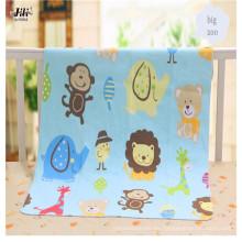 Tela de franela de algodón de impresión reactiva suave y hermosa para ropa de bebé