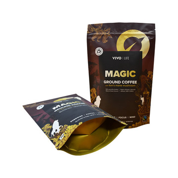 Stand Up Ground Coffee Powder Pembentuk Pouch Packaging