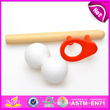 2015 New Blow Ball Toys for Kids, Popular Play Wooden Blow Toy for Children, Hot Sale Wooden Blow Ball Toy for Baby W01A012