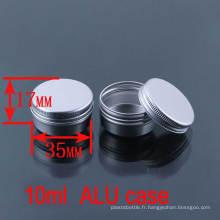 10g Cosmétique / Crème / Lotion / Baume à lèvres Aluminium Box / Case / Jar