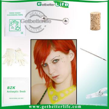 Diferencia esterilizada Barbell Pack Joyería Piercing del cuerpo
