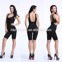 XYLTY-010 2017 wholesale cotton wrapped round neck elastic waistband singlet party jumpsuit for women