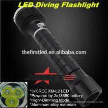 JEXREE de alta potencia de caza 3XCREE XM-L2 Tactical LED buceo linterna de luz