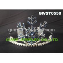 Tiara de encargo cristalino del rhinestone de la corona del desfile