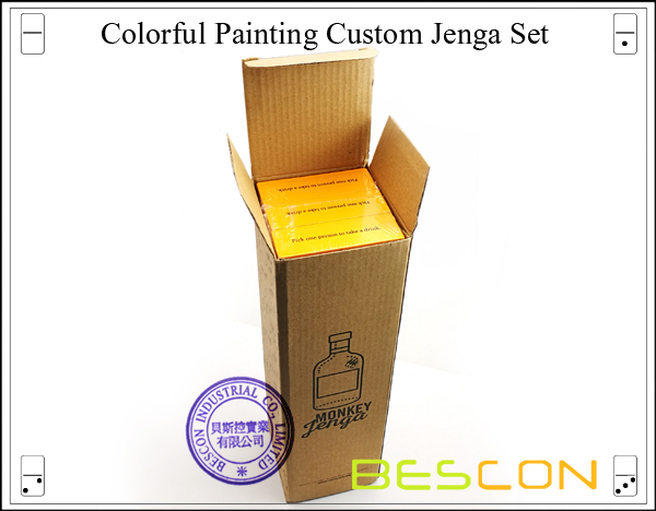 Colorful Painting Custom Jenga Set-3
