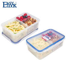 3 Compartment Meal Prep Plastic Food Container Microwave with Lid