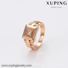 14460 bijoux Xuping nouveaux anneaux d'homme de mode avec l'or 18K plaqué