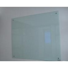 Panneau blanc en verre trempé pour bureau utilisant