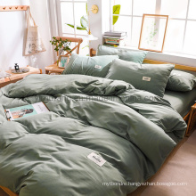 Cheap Price Troops Dorm Green 3 PCS Single Bed Modern Design Cotton Bed Sheet