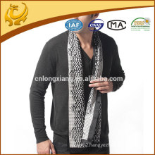 woven 12mm satin printed long male scarf