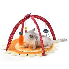 Activity Sun Shape IQ Training Foldable Cat Play Toys Tent