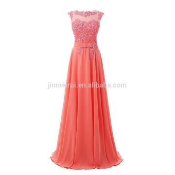 Hochzeits-Abend-Kleid-formale Anlässe 2016 Heiße Verkaufs-Qualitäts-A-Linie Appliqued Abend-Kleid-langes wulstiges Sequined Abschlussball-Kleid