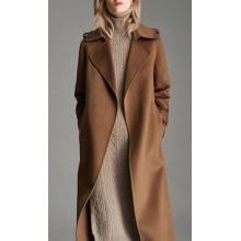 Kvinnors Pure Cashmere Full Length Overcoat