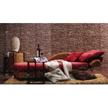 WABR-009 El mejor jacinto de agua de mimbre natural superventas que se relaja fijado para el hogar vivo Muebles de interior