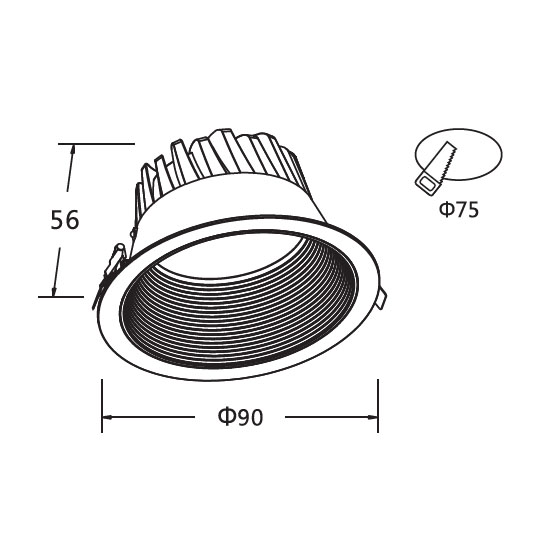 Surface Mounted Closet Light Fixtures 5W