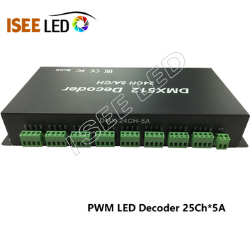 PWM DMX LED Decoder 24 canaux