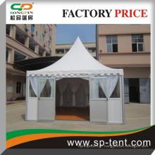 5m par 5m Tente de pagode résistante au son 5x5m avec porte en verre sandwich pour mariage
