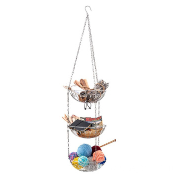Kitchen Decor Fruit Hanging Basket 3 Tier Large Storage Counter Organizer Fruits Vegetables Basket