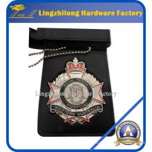 Material de metal y emblema de cuero y emblema de la billetera