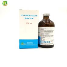 Antibióticos Enrofloxacina líquida 10% Dosis inyectable