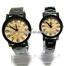 hot stainless steel quartz lover watch branded couple watches