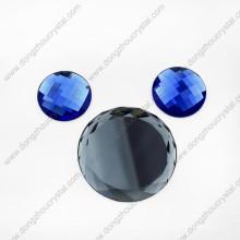 Perles de verre rondes décoratives colorées sans plomb pour les chaussures